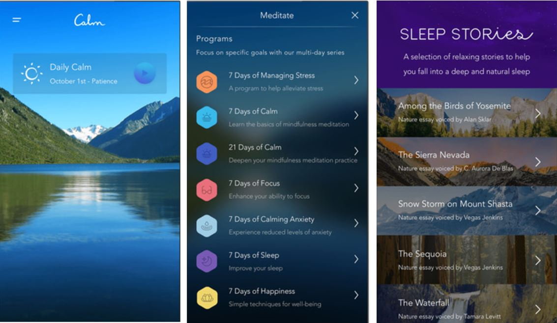 Calm Mindfulness and guided Meditation App
