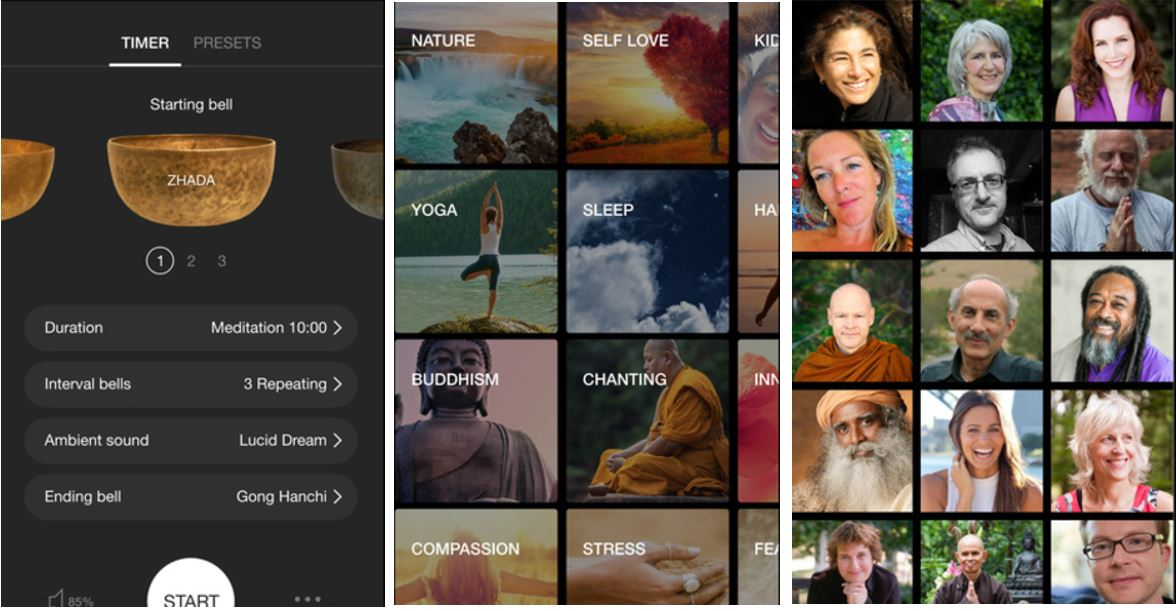 Insight Timer guided Meditation App