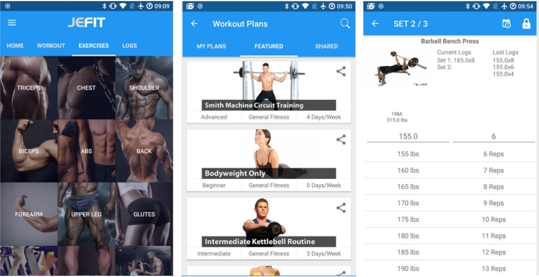 JEFIT best Workout app for Tracker, Gym Log Personal Trainer