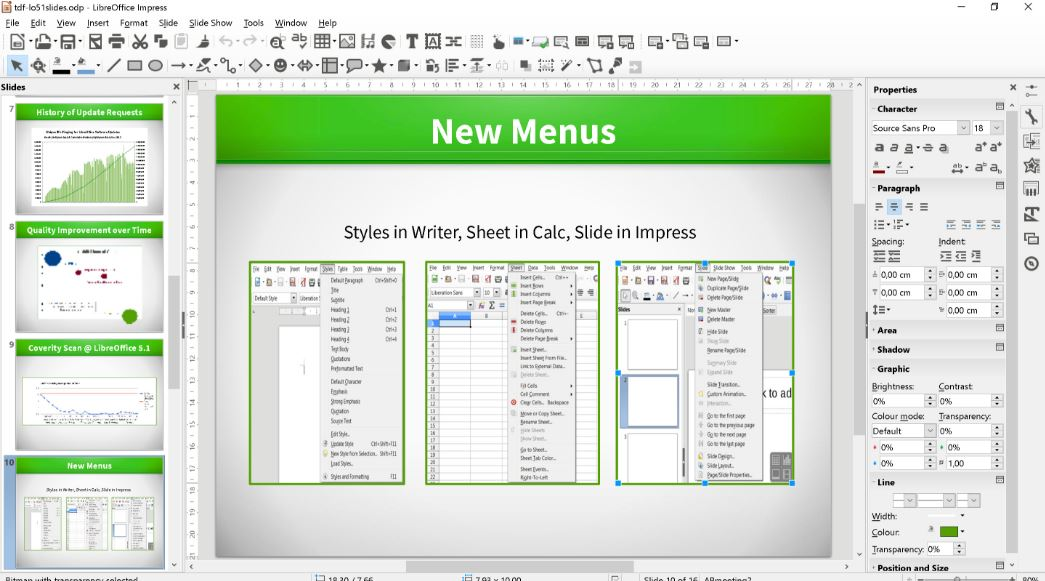 LibreOffice opensource office suite and alternative to microsoft office