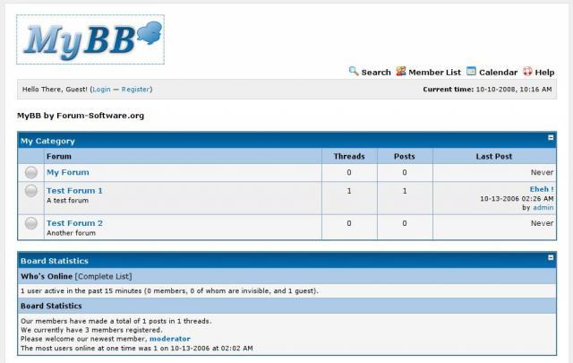 MyBB opensource forum platform