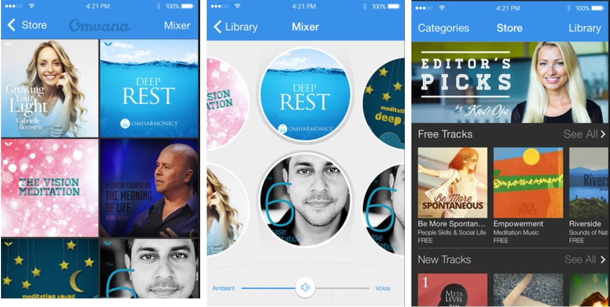 Omvana best Meditation apps for Yoga Sleep