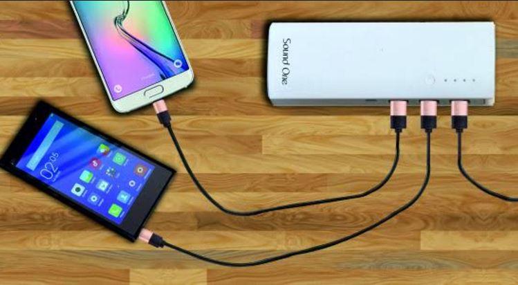 Sound One Compact Power Bank Dual USB Port 10000mAh Black