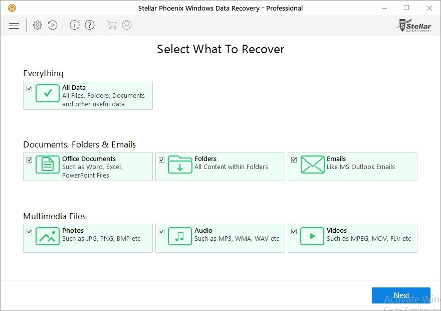 Stellar Phoenix Windows Data Recovery v7