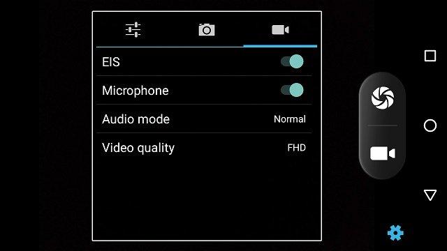 camera interface review panasonic eluga A3 pro smartphone
