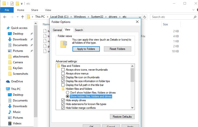 how to find the host file in windows
