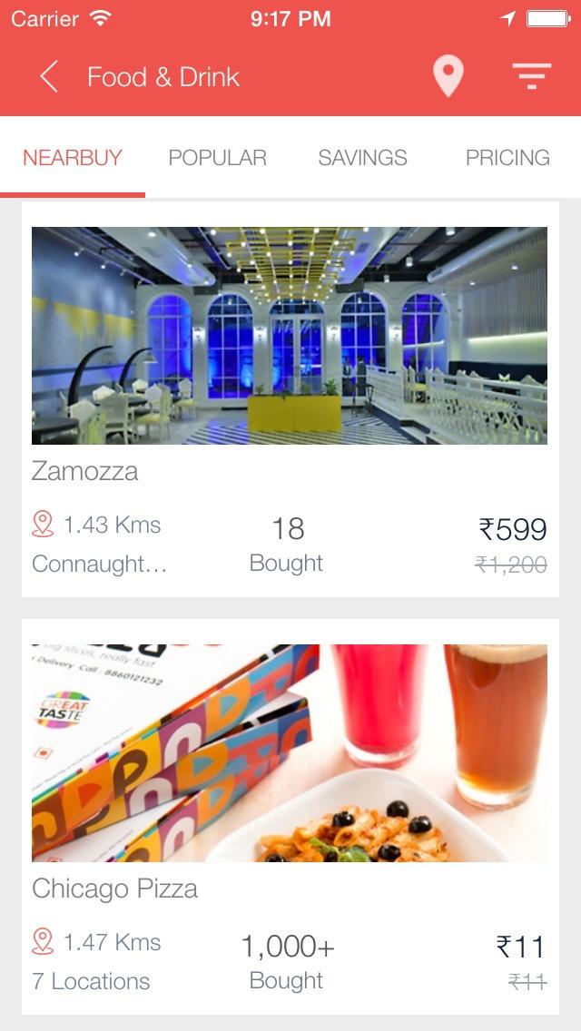 near buy find the best deal in nearby restaurant
