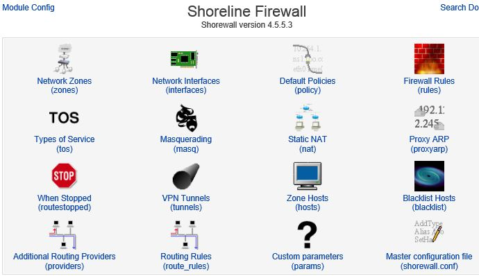 Shorewall firewall