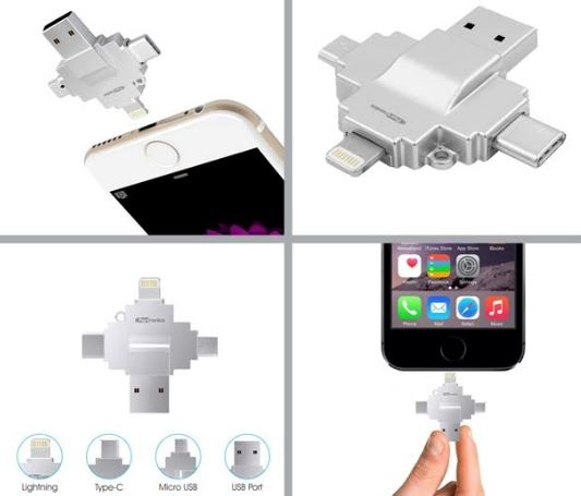 Smartphone Accessory Diski 4-in-1 Card Reader By Portronics