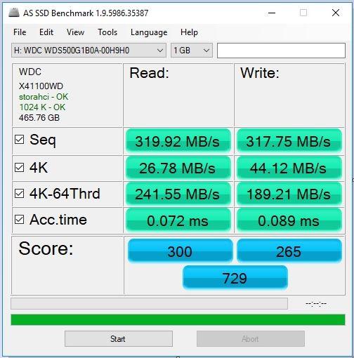 WD 500GB ssd benchmark