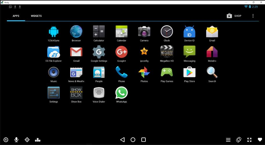 Andyroid Android emulator is available for both Windows 7,8,10 and Mac