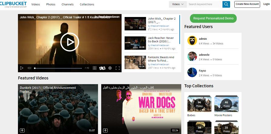 ClipbucketEnterprise OpenSource Video Broadcasting Solution
