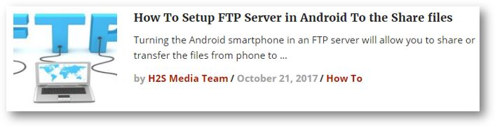 Convert your Android smartphone into an FTP server to share the files