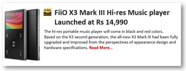 FiiO X3 Mark III Hi-res Music player
