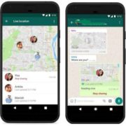 How does WhatsApp live location works