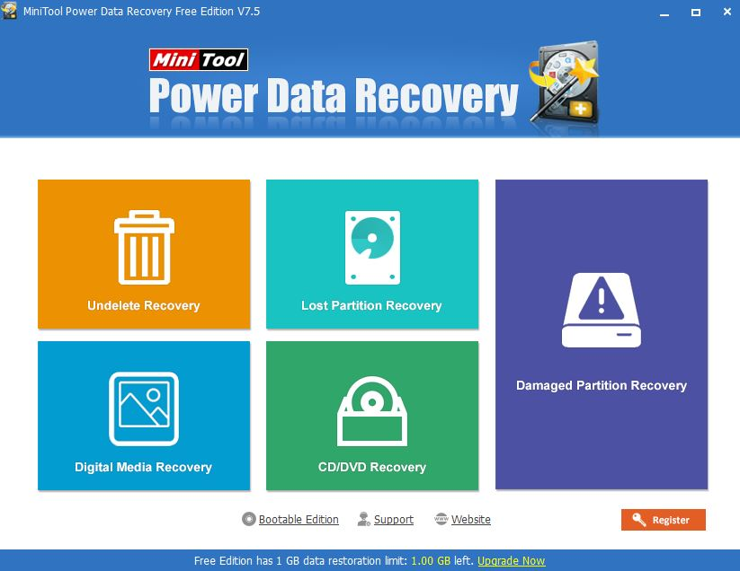 MiniTool Power Data Recovery Software Interface review