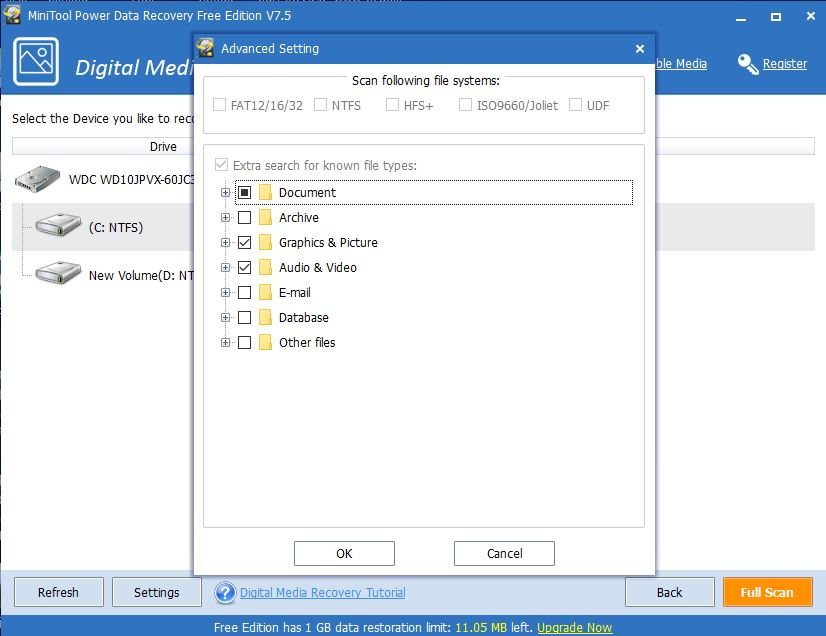 Minitool power data recovery Free editon v7.5 review