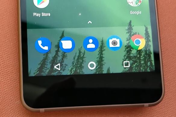 Nokia 2 bottom of the display image