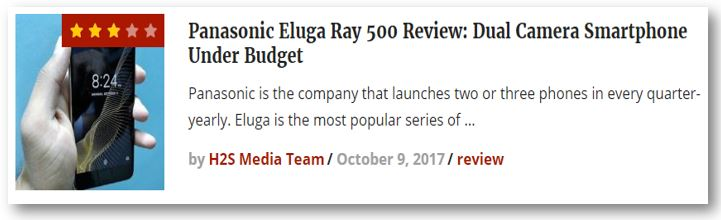 Panasonic Eluga Ray 500 review