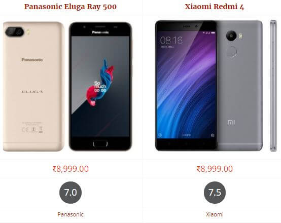 Panasonic Eluga Ray 500 vs Xiaomi Redmi 4