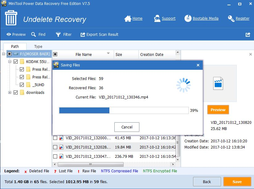 Power Data Recovery free version
