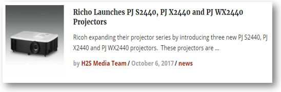 Richo PJ S2440, PJ X2440 and PJ WX2440 Projectors