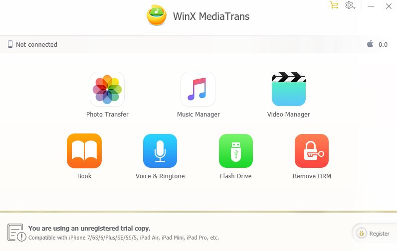 WINX mediatrans iphone data transfer through windows
