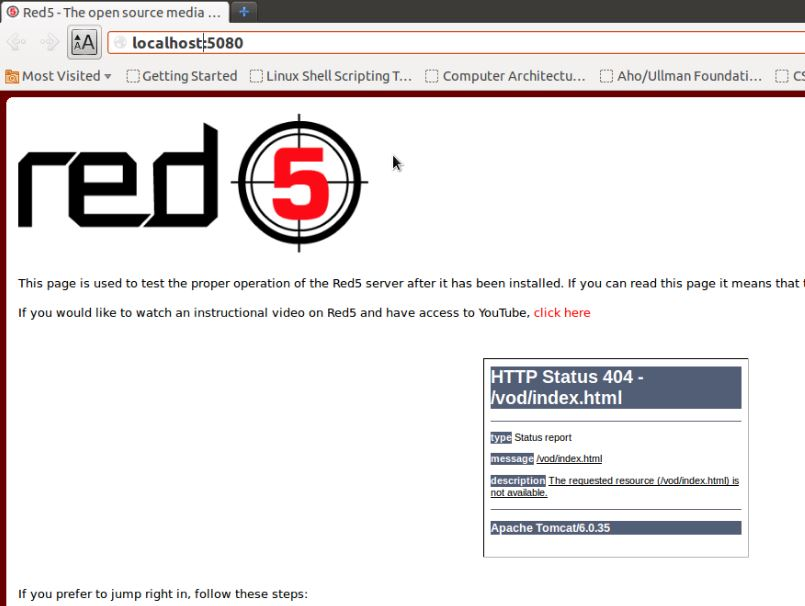 red5 opensource video streaming server