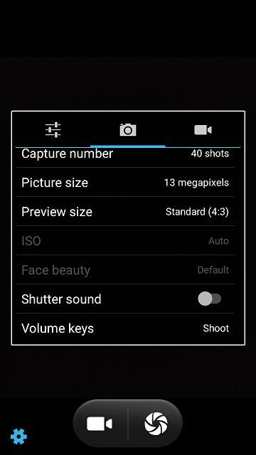 Eluga A4 camera app review.