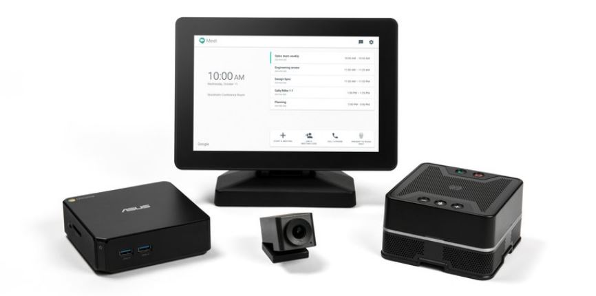 Gogole Hangout Meet hardware for video meetings and Group chat