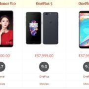 Huawei Honor V10 vs OnePlus 5 vs OnePlus 5T