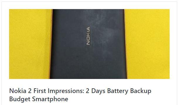 Nokia 2 first impression
