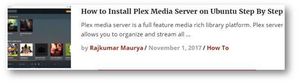 Plex home media server installation