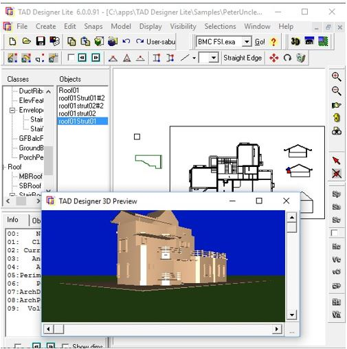 TAD3DView BIM software viewer