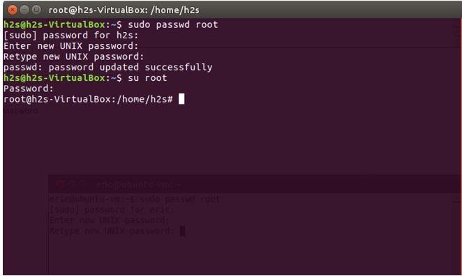 Ubuntu root command