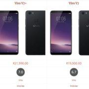 Vivo V7+ vs Vivo V7 comparision specifications & FEATURES