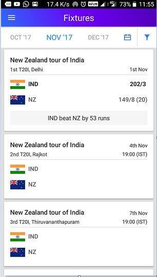 Yahoo fixture cricket app review