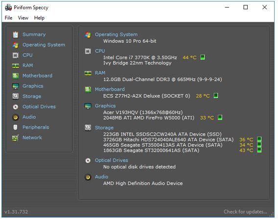 speccy motherboard infomariotn