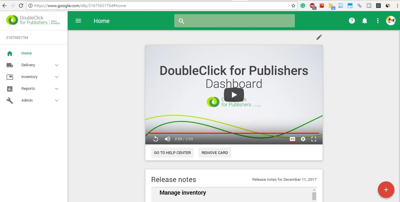 Doubleclick dashboard