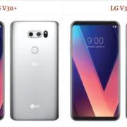 LG V30+ vs LG V30 Comparison Specifications