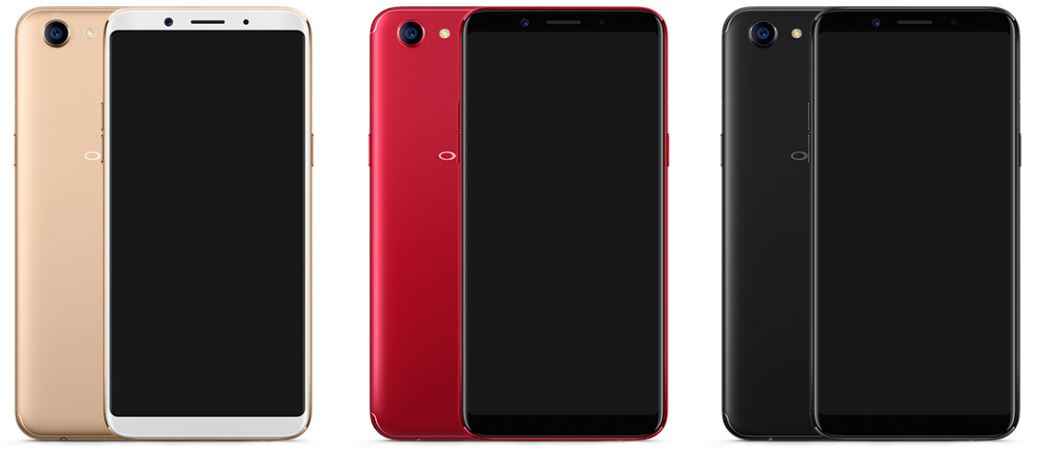 Oppo F5 smartphone availabel colours