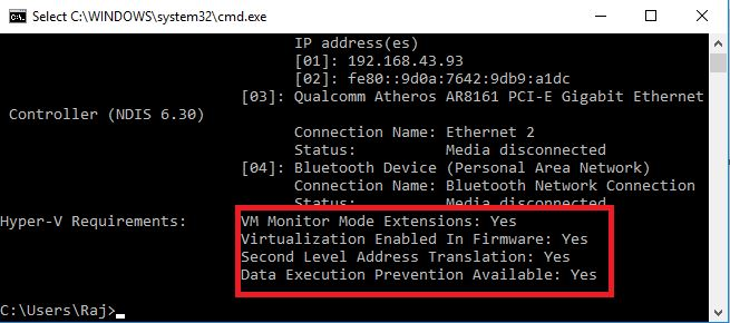 Verify the Hardware Compatibility for Hyper-V