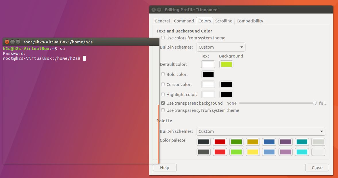 How to Change Transparency of Terminal in Ubuntu Linux | H2S