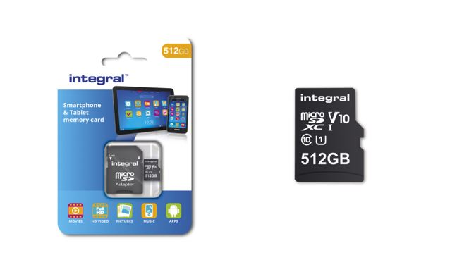 512GB MicroSD card Arrives in February, By Integral