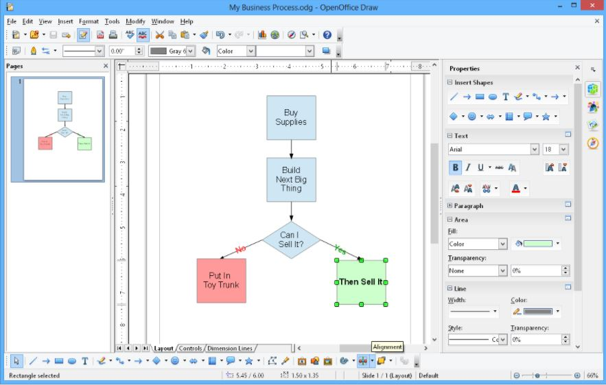 Apache OpenOffice Draw pdf editor