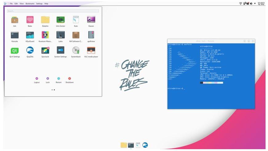 Nitrux OS Nomad Desktop environment