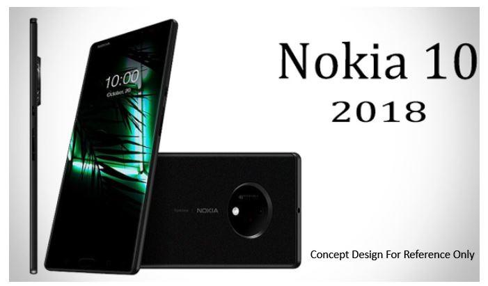 Nokia 10 Penta-Lens Camera Module Smartphone Leaked Sketch