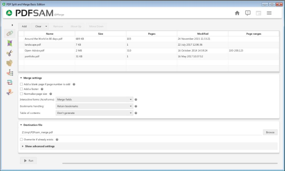 PDFsam–PDF Split and Merge