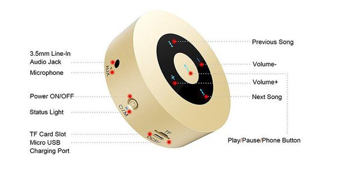 PTron Sonor Mini Bluetooth Speaker specifications