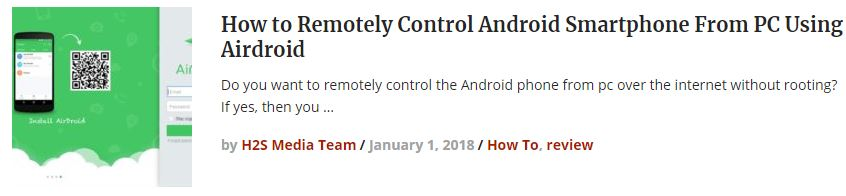Remotely Control Android Smartphone From PC Using Airdroid
